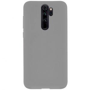 Силиконовый чехол Epic матовый soft-touch для Xiaomi Redmi Note 8 Pro — Серый