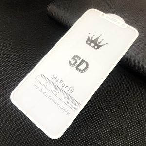 Защитное стекло 5D Premium 9H Full Glue на весь экран для Iphone X / XS / 11 Pro — White