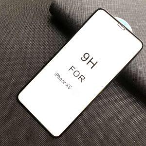 Защитное стекло 5D Premium 9H Full Glue на весь экран для Iphone X / XS / 11 Pro  – Black