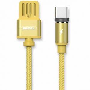 Кабель Remax RC-095а Gravity Series Magnetic Cable Type-C 1.5A (1м)- Gold