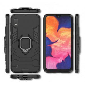 Ударопрочный чехол Transformer Ring под магнитный держатель для  Samsung Galaxy A10 2019 (A105) — Черный