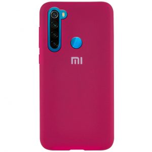 Оригинальный чехол Silicone Cover 360 с микрофиброй для Xiaomi Redmi Note 8 – Hot Pink