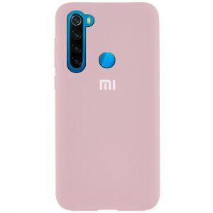 Оригинальный чехол Silicone Cover 360 с микрофиброй для Xiaomi Redmi Note 8 – Pink Sand
