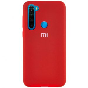Оригинальный чехол Silicone Cover 360 с микрофиброй для Xiaomi Redmi Note 8 – Красный / Dark Red