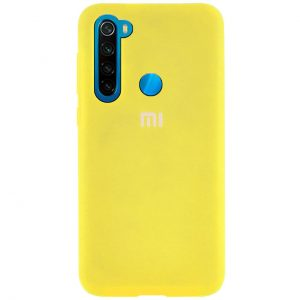 Оригинальный чехол Silicone Cover 360 с микрофиброй для Xiaomi Redmi Note 8 – Yellow