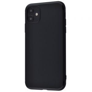Матовый силиконовый TPU чехол для Iphone 11 – Черный