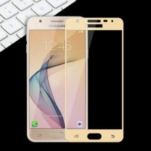 Защитное стекло 2.5D (3D) Full Cover на весь экран Samsung Galaxy J5 2015 (J500)- Gold