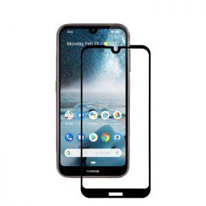 Защитное стекло 2.5D (3D) Full Cover на весь экран для Nokia 4.2 — Black