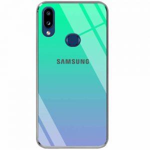 TPU+Glass чехол Gradient Rainbow с лого  для Samsung Galaxy A10s 2019 (A107) — Зеленый