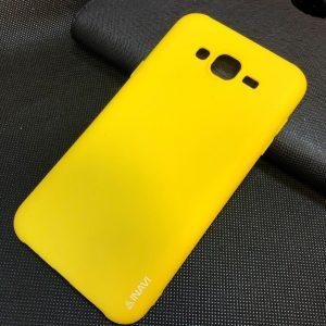 Матовый cиликоновый чехол (накладка) для Samsung J700 / J701 Galaxy J7 (2015) / J7 Neo – Yellow