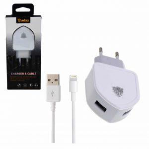 Сетевое зарядное устройство Inkax CD – 18 + кабель Lightning 2USB 2.1A – White