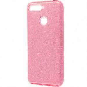 Cиликоновый (TPU+PC) чехол Shine с блестками для Xiaomi Mi 8 Lite / Mi 8 Youth (Mi 8X) – Розовый