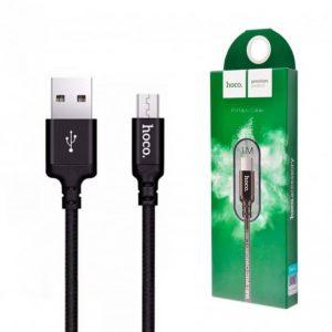 Кабель Hoco X14 USB to MicroUSB (1м) – Black