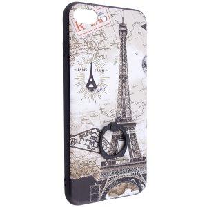 Тематический чехол с кольцом и принтом для Iphone 7 Plus / 8 Plus (Париж)