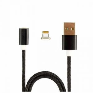 Кабель Aspor AM-101 Magnetic cable Iphone 5/6 Lightning 2.1A (1м)- Black