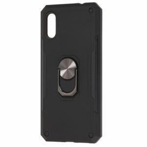 Ударопрочный чехол SG Ring Color под магнитный держатель с кольцом для Samsung Galaxy A50 2019 (A505) / A50s 2019 (A507) / A30s 2019 (A307) — Черный