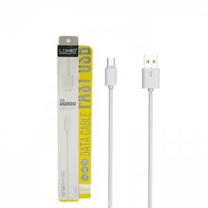 Кабель LDNIO SY-03 USB to MicroUSB 2.1A (1м) -White