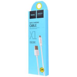 Кабель Hoco X1 USB to Micro USB (2м) – White