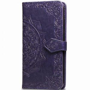 Кожаный чехол-книжка Art Case с визитницей для Xiaomi Mi 9 Lite / Mi CC9 — Фиолетовый