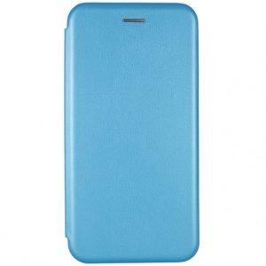 Кожаный чехол-книжка 360 с визитницей для Xiaomi Redmi Note 7 / 7 Pro – Голубой