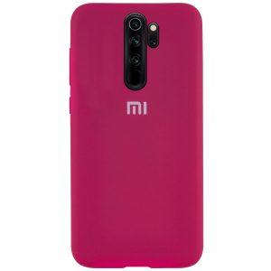 Оригинальный чехол Silicone Cover 360 с микрофиброй для Xiaomi Redmi Note 8 Pro- Hot Pink