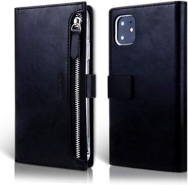 Чехол книжка Molan Cano Zipper Bestie bag для iPhone 11 (6.1″) — Черный