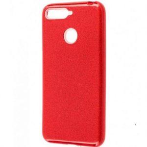 Cиликоновый (TPU+PC) чехол Shine с блестками для Xiaomi Mi 8 Lite / Mi 8 Youth (Mi 8X) – Красный