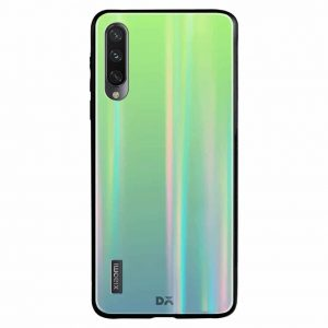 TPU+Glass чехол Gradient Aurora с градиентом  для Xiaomi Mi 9 Lite / Mi CC9 – Зеленый