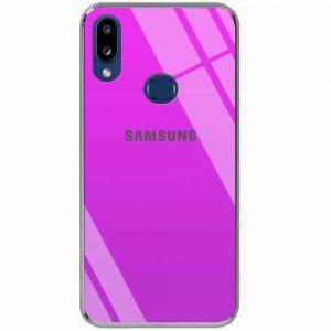 TPU+Glass чехол Gradient Rainbow с лого  для Samsung Galaxy A10s 2019 (A107) — Фиолетовый