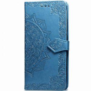 Кожаный чехол-книжка Art Case с визитницей для Xiaomi Mi A3 / CC9e – Синий