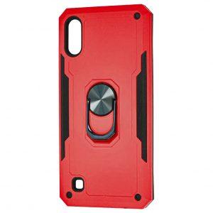 Ударопрочный чехол SG Ring Color под магнитный держатель с кольцом для Samsung Galaxy A50 2019 (A505) / A50s 2019 (A507) / A30s 2019 (A307) — Красный
