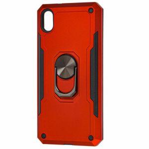 Ударопрочный чехол SG Ring Color под магнитный держатель с кольцом для Xiaomi Redmi 7A — Красный