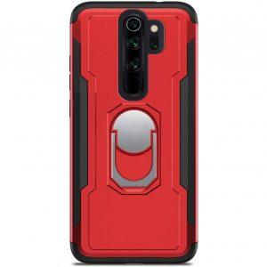 Ударопрочный чехол SG Ring Color под магнитный держатель с кольцом для  Xiaomi Redmi Note 8 Pro — Красный