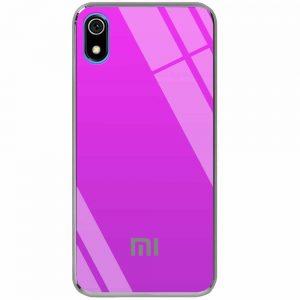 TPU+Glass чехол Gradient Rainbow с лого для Xiaomi Redmi 7A – Фиолетовый