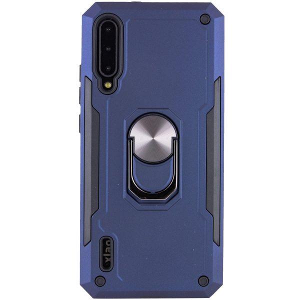 Ударопрочный чехол SG Ring Color под магнитный держатель с кольцом для Xiaomi Mi 9 Lite / Mi CC9 — Темно-синий