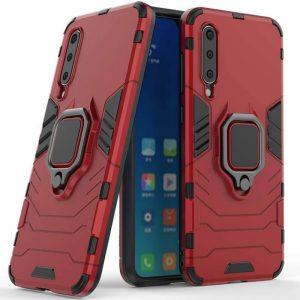 Ударопрочный чехол Transformer Ring под магнитный держатель для  Xiaomi Mi 9 — Красный