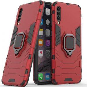 Ударопрочный чехол Transformer Ring под магнитный держатель для Samsung Galaxy A50 2019 (A505) / A50s 2019 (A507) / A30s 2019 (A307) — Красный