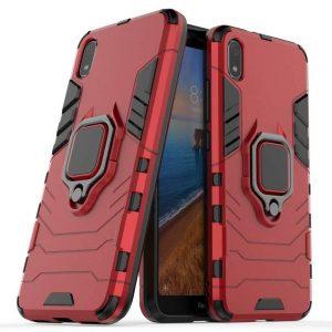Ударопрочный чехол Transformer Ring под магнитный держатель для Xiaomi Redmi 7A — Красный