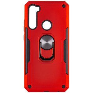 Ударопрочный чехол SG Ring Color под магнитный держатель с кольцом для  Xiaomi Redmi Note 8 — Красный