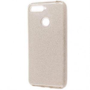 Cиликоновый (TPU+PC) чехол Shine с блестками для Xiaomi Mi 8 Lite / Mi 8 Youth (Mi 8X) -Серебряный