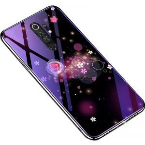 TPU+Glass чехол Fantasy с глянцевыми торцами  для Xiaomi Redmi Note 8 Pro – Пузырьки и цветы