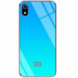 TPU+Glass чехол Gradient Rainbow с лого для Xiaomi Redmi 7A – Голубой