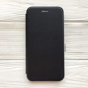 Кожаный чехол-книжка 360 с визитницей для Huawei Y7 2019 / Y7 Prime 2019 / Y7 Pro 2019 – Black