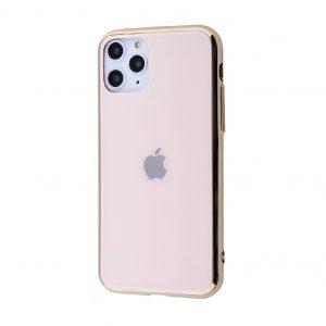 Оригинальный чехол Glass Case для iPhone 11 Pro Max — Золотой