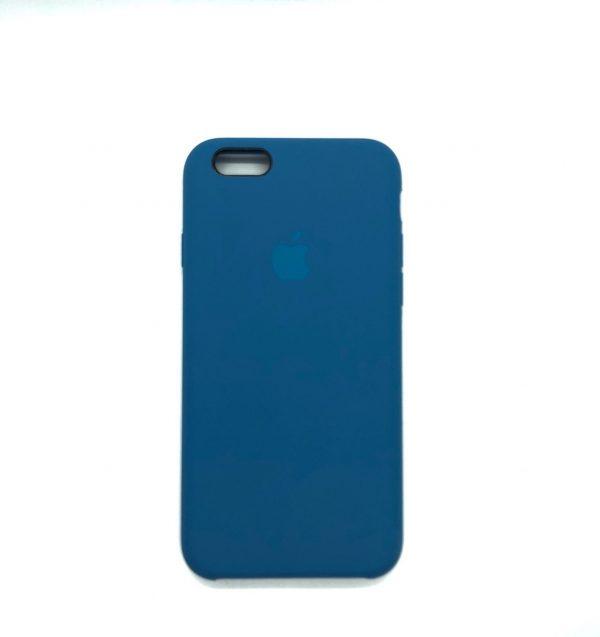 Оригинальный чехол Silicone Case с микрофиброй для Iphone 6 / 6s №41 — Ultra Azure