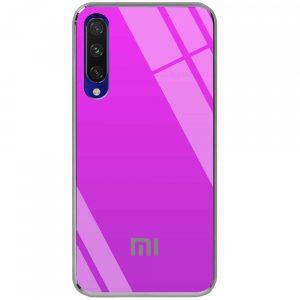 TPU+Glass чехол Gradient Rainbow с лого  для Xiaomi Mi 9 Lite / Mi CC9 – Фиолетовый