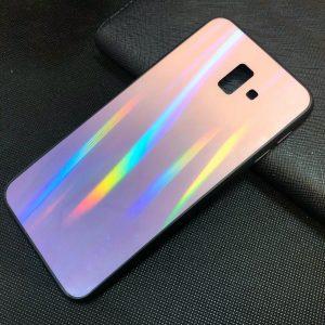 TPU+Glass чехол Gradient Aurora с градиентом для Samsung Galaxy J6 Plus 2018 (J610) – Розовый / Фиолетовый