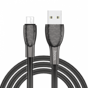 Кабель Hoco U52 Bright USB to MicroUSB 2.4A (1.2м) – Black