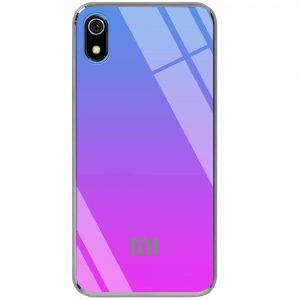 TPU+Glass чехол Gradient Rainbow с лого  для Xiaomi Redmi 7A – Синий