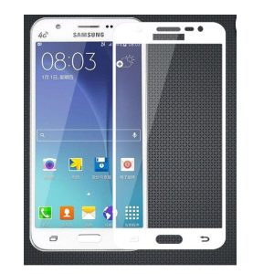 Защитное стекло 2.5D (3D) Full Cover на весь экран Samsung Galaxy J5 2015 (J500)- White